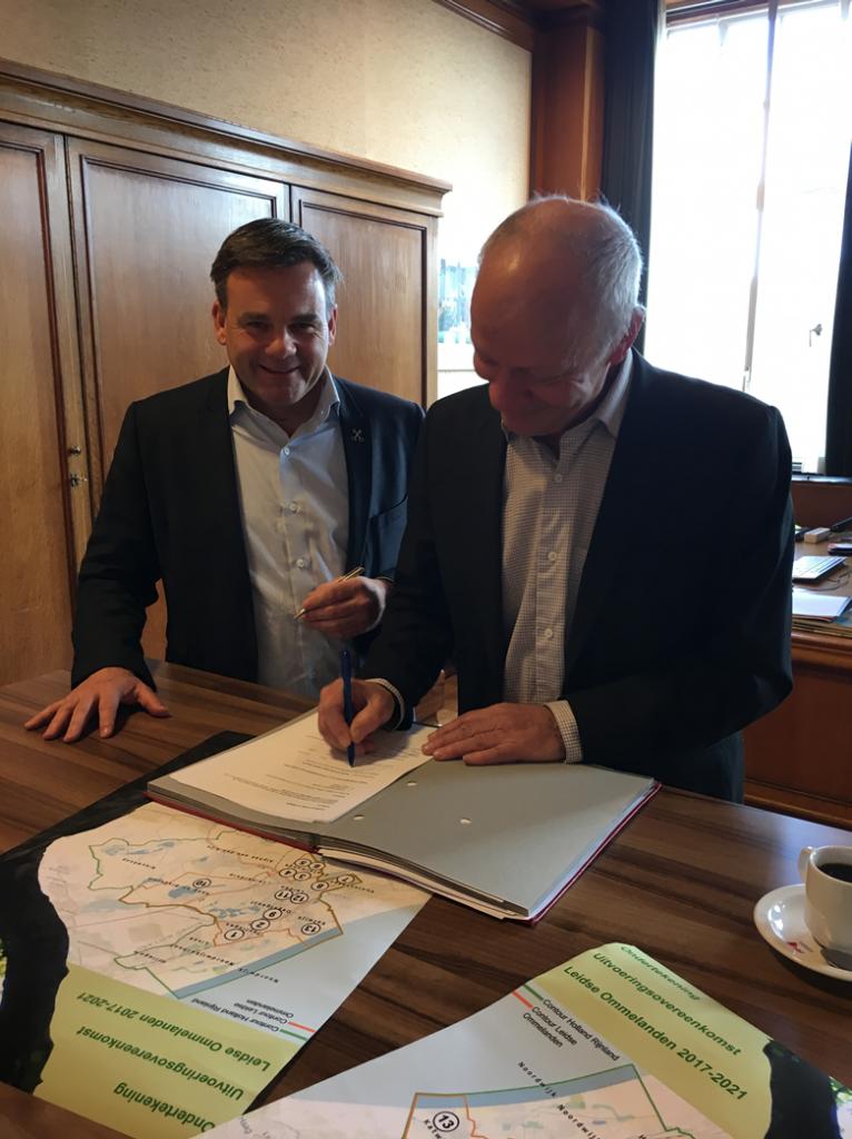 Ondertekening Uitvoeringsovereenkomst Leidse Ommelanden
