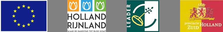 Logo E.U., Logo Holland Rijnland, Logo Leader, Logo Provincie Zuid-Holland