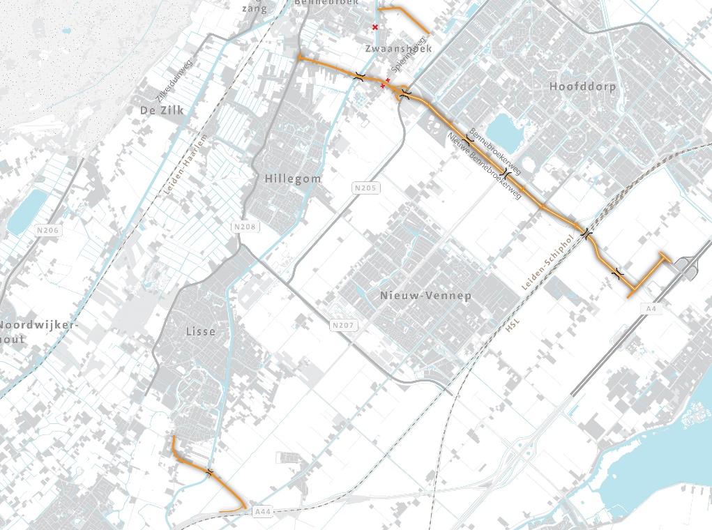 Kaart Duinpolderweg