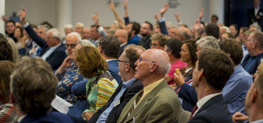 Plenair publiek raadsconferentie Holland Rijnland