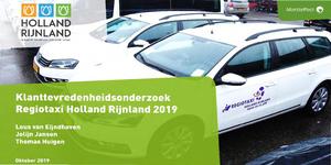 Download het klanttevredenheidsonderzoek Regiotaxi 2019